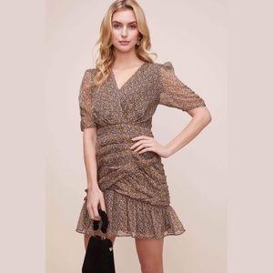 NWT ASTR The Label Shirred Bottom Mini Dress- Med